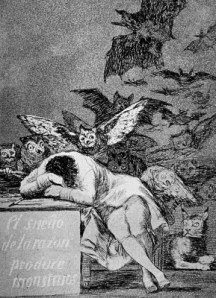 """O sono da razão produz monstros"", Francisco Goya, 1799"