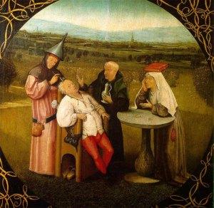 """Hyeronimus Bosch: """"A extração da pedra da loucura"""" (1475-80)"""